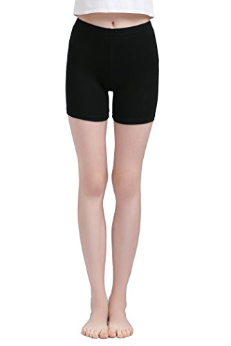 - Vinconie Women Thin Stretch Under Dress Shorts Underwear Skimmies Breathable,Medium / 10/12,Dark Black