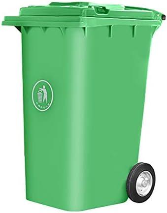 プラスチック製のゴミ箱シンプルでスタイリッシュな屋外用ゴミ箱は緑で覆われていて、鉄の芯車120L:53 * 47 * 94cm 240L:73 * 59 * 102cm (サイズ さいず : 73*59*102cm)