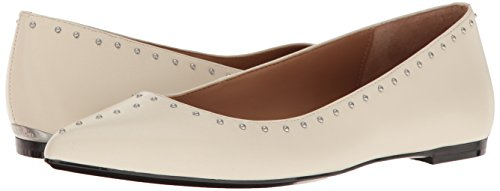 Calvin Klein Women's Genie Pointed Toe Flat, Soft White, 8 M US by Calvin Klein (Image #6)