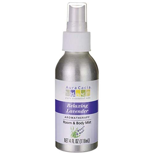 Aura Cacia Relaxing Lavender Aromatherapy Room & Body Mist 4 Oz Food, Silver, 4 Fl Oz ()