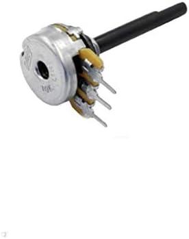 Potenciómetro lineal mono de 10 kOhm, 4 mm x 29 mm, mango de plástico, 270 dgr sin detector central OMEG serie PC16BU