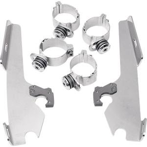 Memphis Shades Trigger Lock Mount Kit-Batwing - w/o light bar/Polished