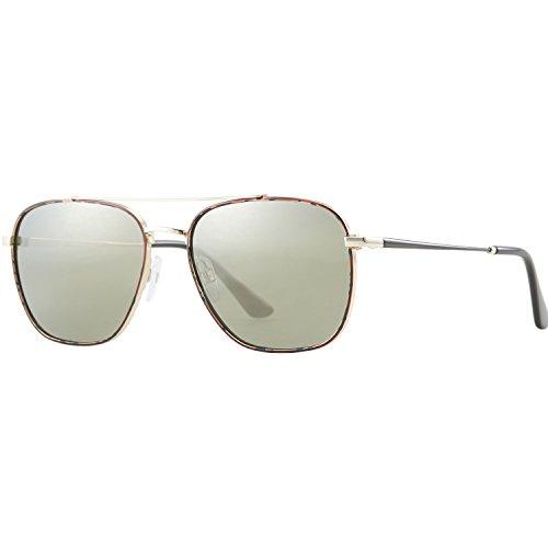 4f8d3dc4a6 Zhara Gafas de sol aviador Gafas Polarizadas Hombre y Mujer Verde de Moda  de Estilo Espejo