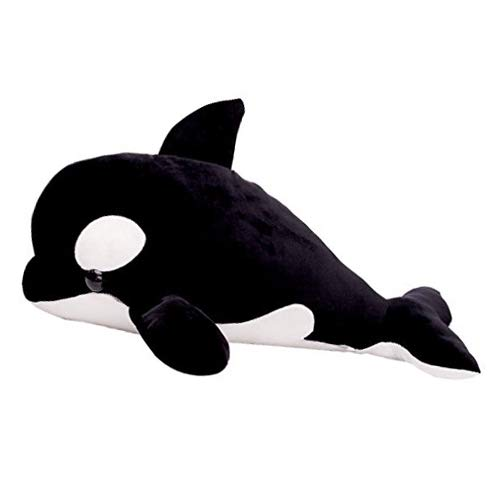 LALA HOME Killer Whale Stuffed Animal | 28'' Large Blackfish Plush | Neat Soft Orca Whale | Ocean Toy & Gift ()