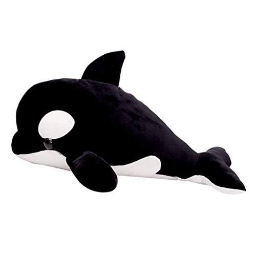 LALA HOME Killer Whale Stuffed Animal | 28'' Large Blackfish Plush | Neat Soft Orca Whale | Ocean Toy & - Stuffed Whale Orca