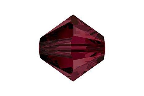 (Swarovski Crystal Bicones 5301/5328 4mm Garnet- 50)