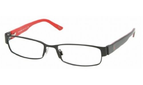 Polo Ralph Lauren PH1083 Eyeglasses Matte Black / Black on Red - Polo Prescription Glasses