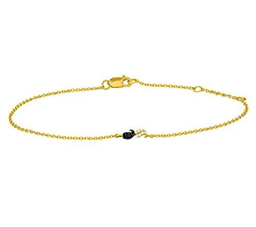 Or Jaune 14 ct Bracelet Diamant , 0.02 Ct Diamant, GH-SI, 1.76 grammes.