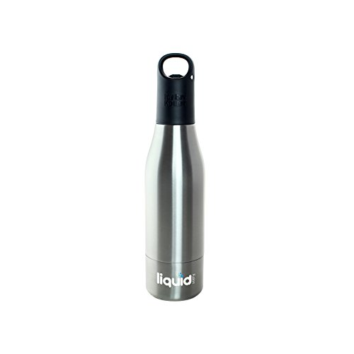 ICY BEV KOOLER STAINLESS STEEL BOTTLE INSULATOR, 1 PACK, SILVER, beer keeper/holder with silicone bottle stopper; cap with bottle opener and finger grip keeps beer cold longer