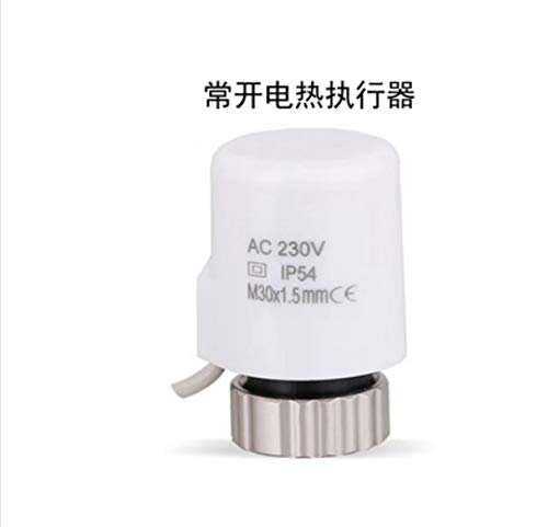220V NO NC Electric Thermal Actuator Valve Head For Thermostat Manifold Underfloor Heating Radiator Normally Opened Closed White normally open