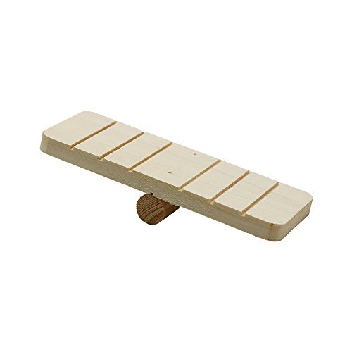 Natural Wood Seesaw For Hamster Mice Chinchilla Chipmunk, Small Animals Habitat Toy HM-06