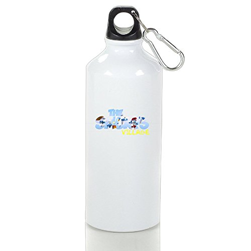 ZMILY Blue Animal Playing Stylish Custom Sports Kettle Cups White With Carabiner Hook 500ml