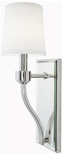 NORWELL 5611-PN-WS Roule Mirror Sconce, Polish Nickel (Norwell Nickel Sconce)