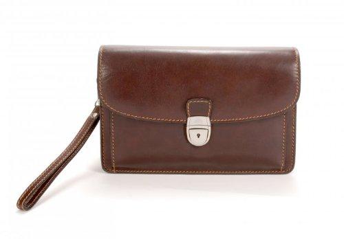 Tony Perotti Men's Bull Italian Leather Horizontal Compact Mini Briefcase