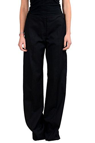 Maison Margiela 4 Women's Black Wool Pinstriped Dress Pants US S IT 40