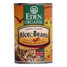 Eden Foods Organic Brown Rice and Green Lentils Beans, 15 Ounce - 6 per case.