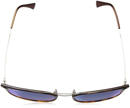Ray-Ban Mens Plastic Man Non-Polarized Iridium Square Sunglasses, Shiny Red Havana, 55 mm