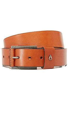 Nixon Men's Americana Leather Belt, Saddle, 32 Americana Belt