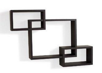 Review EWEI'S HomeWares Intersecting Boxes Espresso Wall Shelf, Black By EWEI'S HomeWares by EWEI'S HomeWares