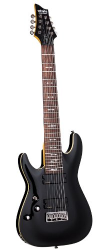 Schecter OMEN-8 Left Handed 8-String Electric Guitar, Black