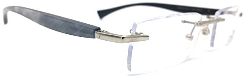 Gold and Wood A06. 16 CMD40 Eyeglasses with Horn - Temple Eyeglasses Wood
