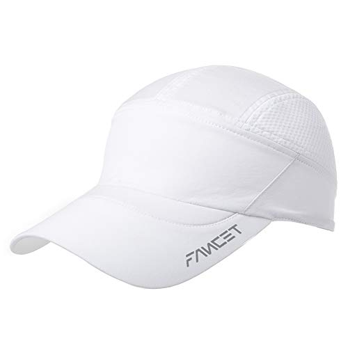 Adjustable Mens Womens Baseball Cap Stylish Reflective Dad Hat Outdoor Sports Running Camping Hiking Hunting White