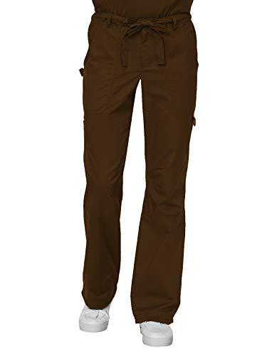 - KOI James Elastic Men's Scrub Pants with Zip Fly and Drawstring Waist, Espresso, Medium