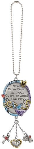 Never Drive Faster Than Your Guardian Angel Can Fly Colorful Ornament By Ganz ()