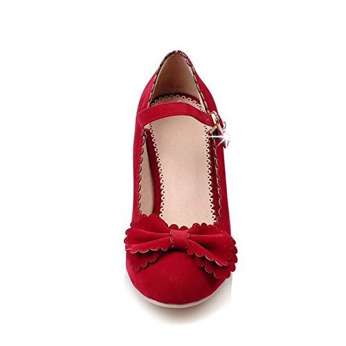 AN Compensées Sandales DGU00437 Red Rouge 5 EU 36 Femme rAprv