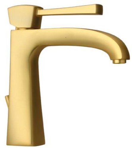 La Toscana 89OK211L Lady Tall Single Post Mount Lavatory Faucet with Pop-Up Drain, Satin Gold by La Toscana