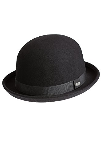 Crushable Wool Waterproof Derby Bowler Hat, BLACK, Size XLarge (7 1/2 – 7 5/8) (Bowler Hat)