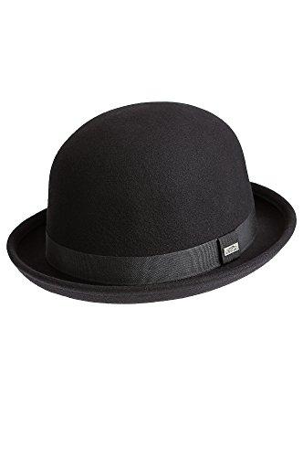 Crushable Wool Waterproof Derby Bowler Hat, BLACK, Size XLarge (7 1/2 – 7 5/8)