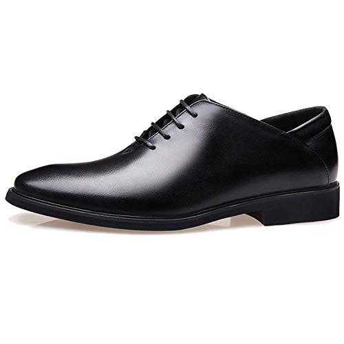 Black Uomo in da Pelle British Style Scarpe Business Casual Scarpe Stringate Trend Versatile xwpqfxB07