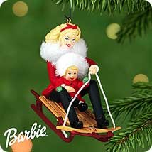 Hallmark Winter Fun With Barbie and kelly Ornament 2000 ()