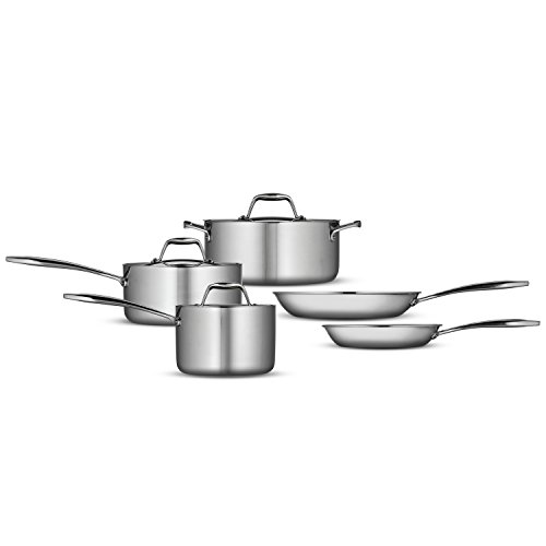 Tramontina 80116/247DS Gourmet 18/10 Stainless Steel Induction-Ready Tri-Ply Clad 8-Piece Cookware Set, by Tramontina (Image #2)