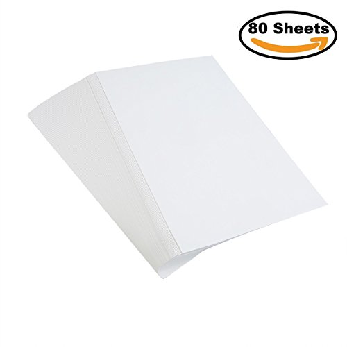Cotton Water (80 Sheets Thicker Watercolor Paper,100% Rag Cotton Bulk Pack Cold Press Ready Cut for Students Beginner or Artists Supplies, 6 by 9 Inches, White)