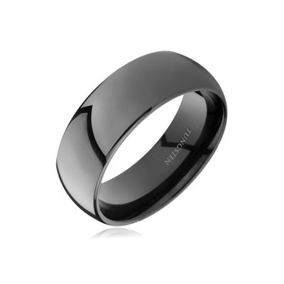 Mysticdrop 7 mm Black Domed Tungsten Wedding Band Review
