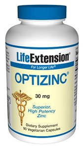 Life Extension Opti Zinc 30mg Capsule, 90 Count (Pack of 2)
