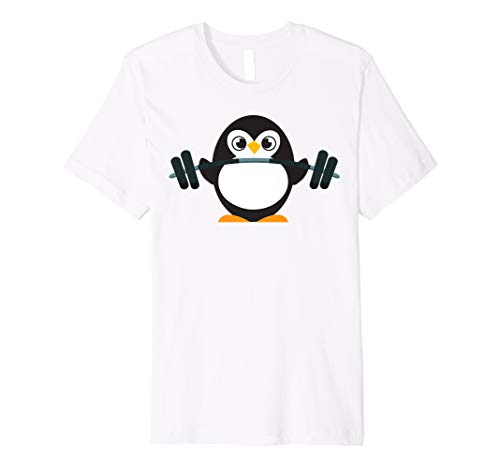 (Cute Penguin Weightlifting Shirt - A Perfect Fitness Present)