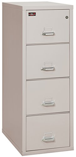 FireKing Fireproof 2 Hour Rated Vertical File Cabinet (4 Legal Sized Drawers, Impact Resistant, Waterproof), 57'' H x 21.31'' W x 32.06'' D, Platinum by FireKing