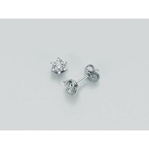 Boucles d'oreilles MILUNA Miss Italia erd5070014s or diamant