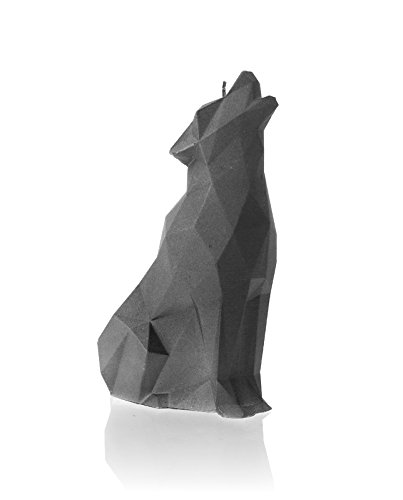 Candellana Candles Candellana-Wolf Candle, Gray