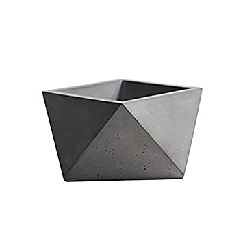 Flowerpot Silicone Concrete Mold Triangular Polyhedron Handmade Cement Planter Mould L0275