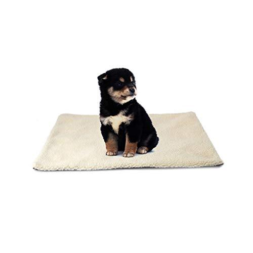 Krastal Dog Bed Super Soft Self Heating Cat Dog Bed Cushion Pet Thermal Warm Fleece Rug (Self Warm Cat Cushion)