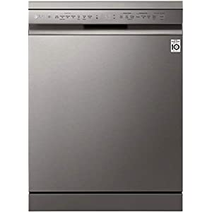 LG 14 Place Settings Wi – Fi Dishwasher (DFB424FP, Silver, Silent Operation, Tough Stain Removal, Adjustable racks )