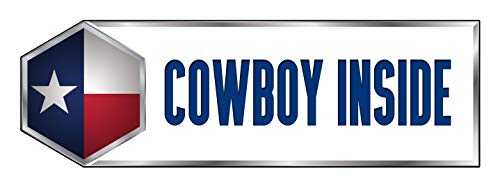 (Makoroni - COWBOY INSIDE Texas Texan State Sticker Decal Car Laptop Wall Sticker Decal 3'by9' (Small) or 4'by12' (Large))