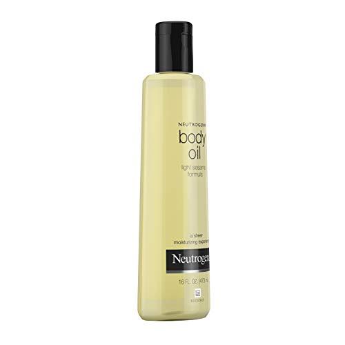 Neutrogena Lightweight Body Oil for Dry Skin, Sheer Body Moisturizer in Light Sesame Formula, 16 fl. oz 6