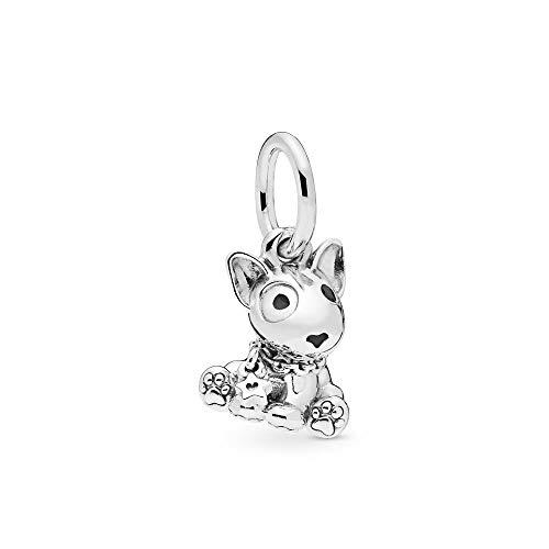 PANDORA Bull Terrier Puppy Dog 925 Sterling Silver Charm - 798010EN16