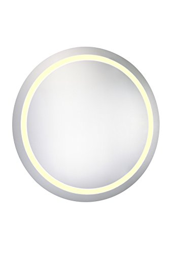 Round Gold Ribbon Mirror - Decor Central ADEMIR-18045 LED Hardwired Mirror with Round Steel Frame, 30