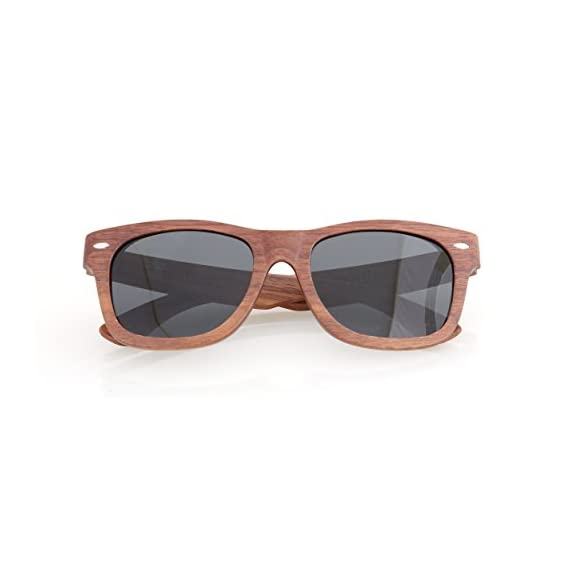 Walnut Wood Wooden Polarized Sunglasses Natural Floating Light Frames W/Pouch 2 HANDCRAFTED WOODEN SUNGLASSES- Each pair of sunglasses is unique and is made from sustainable walnut wood. These sunglasses are lightweight and float in the water POLARIZED LENSES - Our polarized lenses provides crystal clear vision and anti-glare with UV400 protection FREE MICROFIBER POUCH- Each pair of sunglasses come with one pouch to store and protect them.
